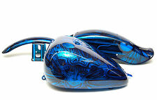New 00 FXST Softail Carb Oriental Blue Giger Custom Paint Set