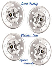 """15"""" WHEEL COVER HUBCAPS CARS TRUCKS TRAILERS POLISHED STAINLESS STEEL SET OF 4 ©"""