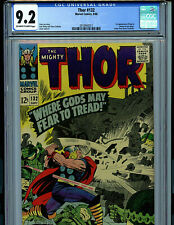 Thor #132 CGC 9.2 NM-  Marvel 1966 1st  Ego & Recorder Kirby Art Amricons K20
