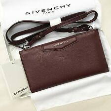 135ce5dba008 Givenchy AUTH Oxblood Red Grained Leather Antigona Crossbody Pouch Clutch  Bag