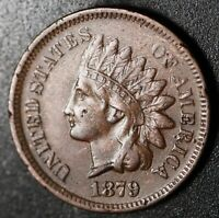 1879 INDIAN HEAD CENT - With LIBERTY & DIAMONDS - XF EF