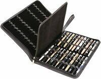 Fountain Pen Case Carry 48 Handle Pu Leather Pen,Organizer Storage Display Tray