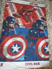 Captain America Iron Man Civil War Reversible Single Bed Cover + Pillow Case