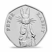 2019 PETER RABBIT * FREE POSTAGE * 50p Pence Coin BUNC