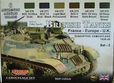 Lifecolor Acrylics LC-CS44 WW2 British Tanks/AFV's (Europe) Scheme paint set