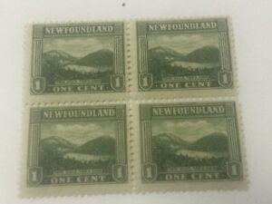 # 131 NEWFOUNDLAND STAMP 4 BLOCK MINT N H