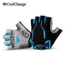 Outdoor Half Finger Bike Gloves Cycling Gloves SBR Padded Sport Gloves Blue XXXL