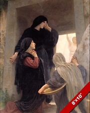 WOMAN AT THE TOMB HE IS NOT HERE PAINTING RISEN JESUS CHRIST ART CANVAS PRINT