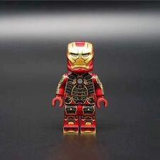 ⎡BRICK ZONE⎦Custom Red Iron Man Tony Stark Armor Mark 41 Lego Minifigure