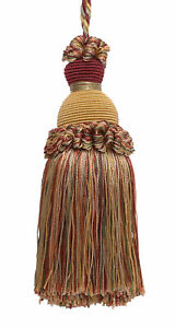 "Wine Gold Green 5"" Decorative Key Tassel Cherry Grove [Invidual]"