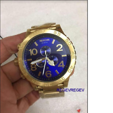 Nixon Watch A083-2735 51-30 Chrono All Gold Blue Sunray A0832735 MEN