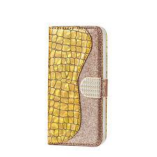 Fashion Women Girl Laser Glitter Flip Card Wallet Phone Case Cover For Samsung