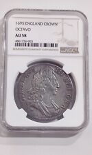 More details for 1695 england william iii crown octavo au58