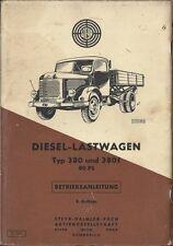 STEYR PUCH  DIESEL LASTWAGEN TYP 380 + 380 f Betriebsanleitung 1961 Handbuch BA