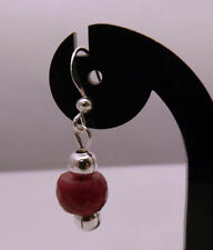 Silver Plated Natural Ruby Fine Earrings