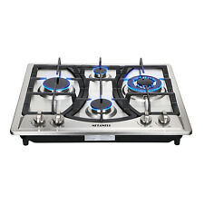 23in.Curve Stainless Steel Gas Hob Cooktop Built-In 4 Burner Cooker for Kitchen