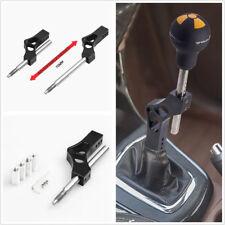 Universal Black Aluminium Adjustable Car Gear Shifter Shift Knob Extension Lever