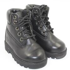 Smith's Baby Infant Boy Black Leather High Top Hiking Boots Shoes Size 4E