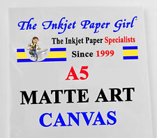 A5 Matte Art Canvas Inkjet Fabric Water Resistant 2 sheet SAMPLE PACK