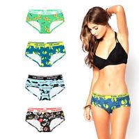 Fashion Sexy Women's Underwear Lady Cartoon Printed Cotton Triangle Pants Shorts