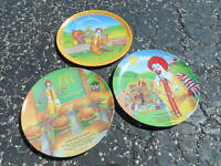 Lot Of 3 unused 1970s/1980s McDonalds Plastic Collectors Plates (S6)