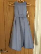 Forever Yours Age 4 Sky Blue Satin Bridesmaid Dress New Without Tags