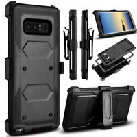 For Samsung Galaxy S10 Note 10 Plus 360° Full Shockproof Case Cover + Belt Clip