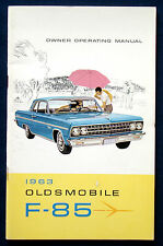 Owner's Manual  Betriebsanleitung 1963 Oldsmobile  F - 85    (USA)
