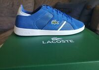 Lacoste Novas 219 2 SMA Mens Blue/White Low Top Lace Up Sneakers Shoes Size 10