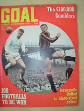 GOAL MAGAZINE AUGUST 16 1969 NEWCASTLE - WEST HAM - ARSENAL - BURNLEY - STOKE