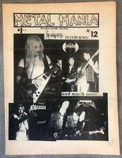 Metal Mania #12 -- 1983 metal fanzine --Metallica Venom SaxonYngwie