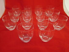 RARE Gianni Valentino Stemless Wine Glasses Set of 14 Gold Dots on Clear Italy