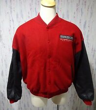 Vtg Sony Imax New York City Varsity Jacket Wool Leather USA Made 2XL
