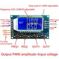 Signal Generator PWM Pulse Frequency Duty Cycle 3.3V-30V Adjustable Module LCD U
