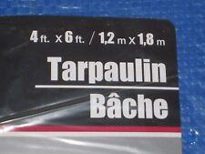 Tarpaulin 4' x 6' Blue Tarp - Protective Cover Lawn Mower, Gas Grill, Drop Cloth