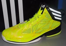 MENS ADIDAS CRAZY FAST in colors ELECTRIC YELLOW / RUNNING WHITE / BLACK SZ 11.5