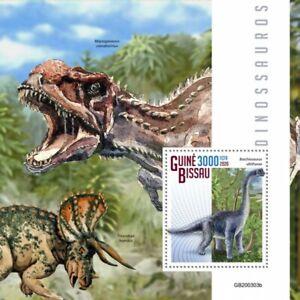 Guinea-Bissau Dinosaurs Stamps 2020 MNH Brachiosaurus Prehistoric Animals 1v S/S
