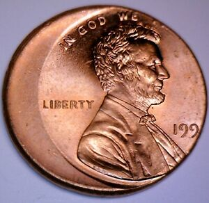 199x Error Off Center U.S. Mint Lincoln Cent Coin NICE CH BU RED O/C LOT #1  NR