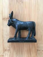 Vintage Egyptian 1970's Apis Bull Black Soapstone Collectable Figurine $24.99