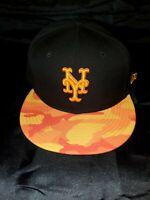NEW ERA 9 FIFTY MLB NEW YORK METS FIRE CAMO SNAPBACK HAT BLACK NEW 21103366