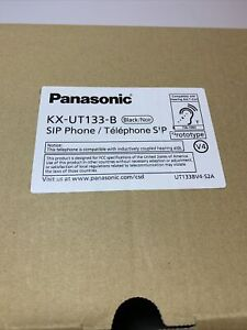 Kx-NT553 B Panasonic IP Phone 3 Line LCD Gigabit PoE Self Labeling New Open Box