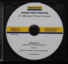 Genuine New Holland 272 488 Haybine Mower Conditioner Service Repair Manual On C
