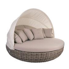 Liegeinsel Pacific Sonneinsel Polyrattan Lounge 360° drehbar Garten Liege Möbel