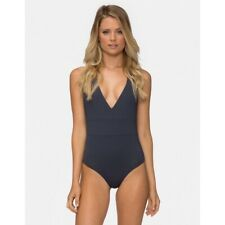 Tavik Women's Halter Chase One-Piece Gray Swimsuit Size S MSRP:$115