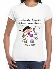 Chocolate Booze and Brand New Shoes 40th Birthday Women's T-Shirt