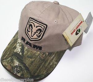 dodge truck diesel embroidered cap auto car hat camo ram head mopar mossy oak
