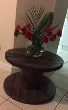 Cable Wire Wood Table/Recycled Wood Furniture/Industrial Wood Table