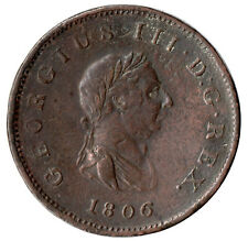 More details for 1806 half penny of george iii.  - nice collectable coin    #31
