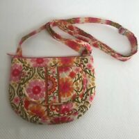 Vera Bradley Folkloric Small Quilted Floral Crossbody Bag Purse Retired Pattern