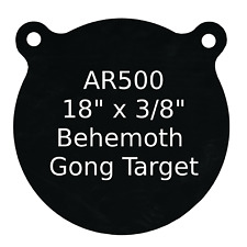 """High Caliber- 3/8"""" AR500 18"""" x 18"""" Gong- 1ct - Steel Target Practice Plate"""